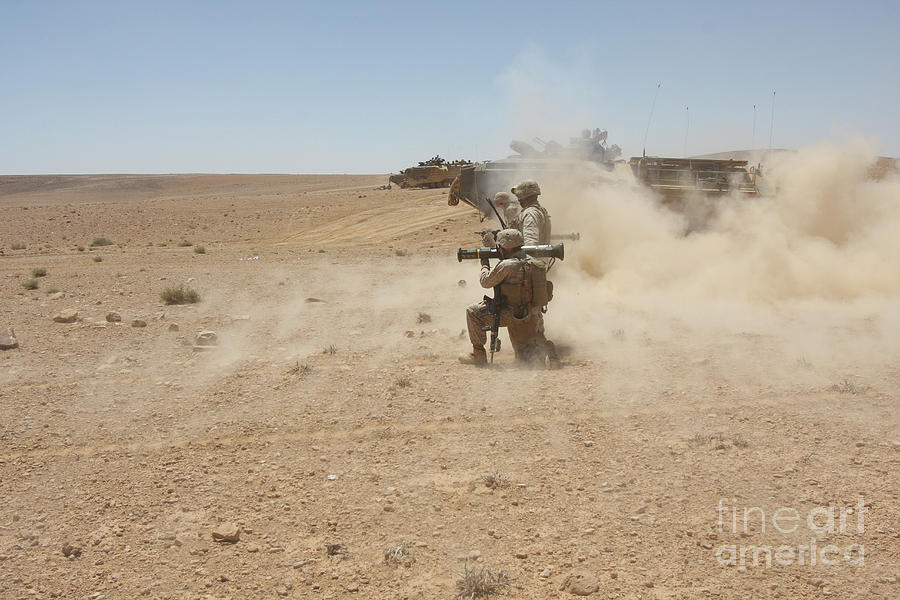 Us Marine Corps Photograph - U.s. Marines Fire Several by Stocktrek Images