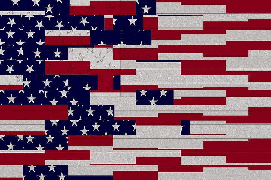 0da489507ef Usa Flag Abstract Digital Art by David G Paul