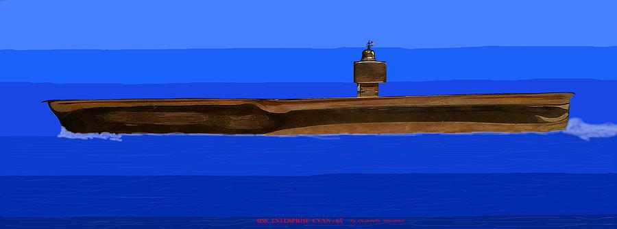 Enterprise Digital Art - Uss Enterprise Cvan 65 by Carl Deaville