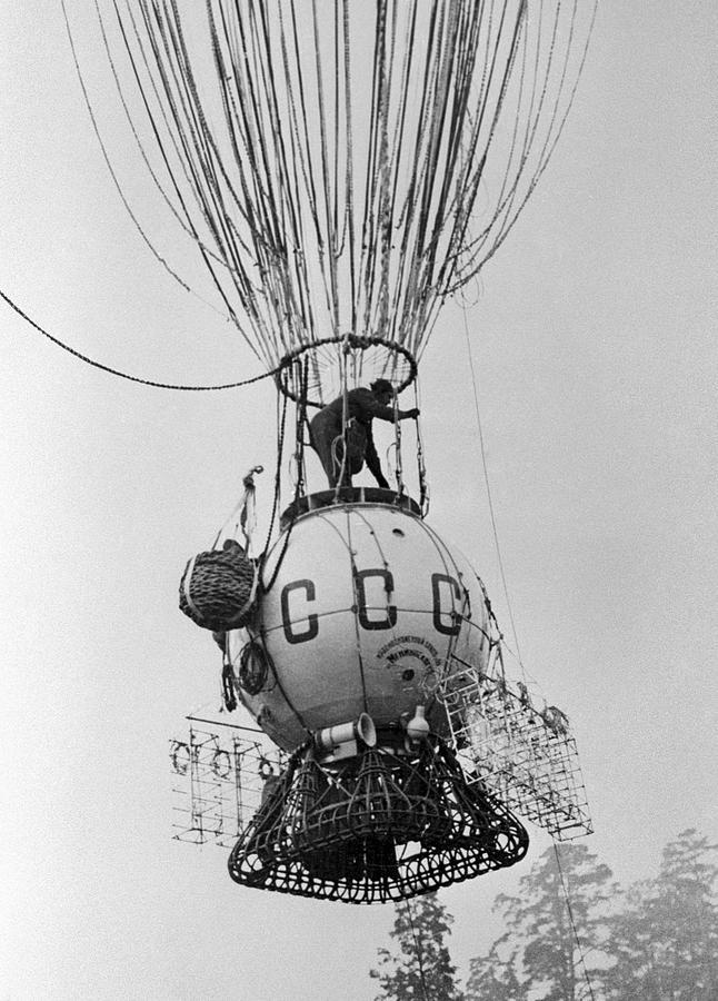 Human Photograph - Ussr-1 High-altitude Balloon, 1933 by Ria Novosti