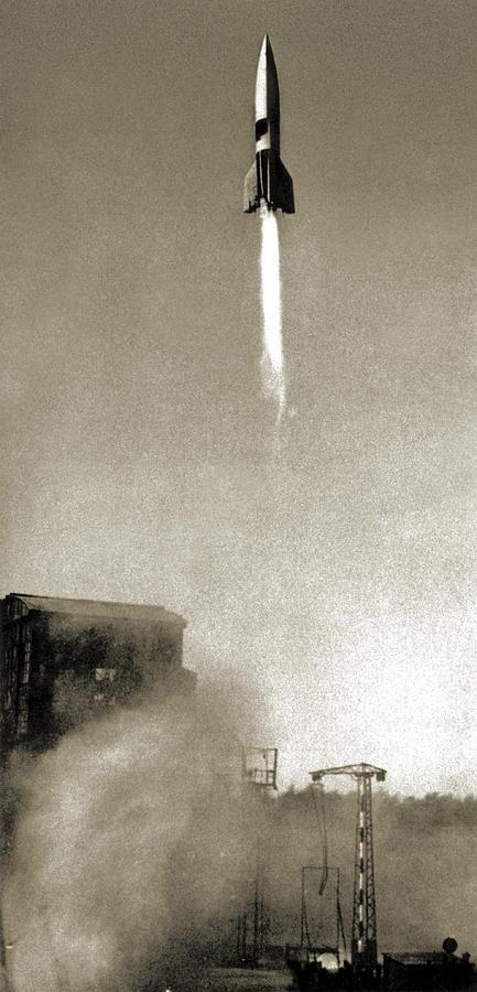 V-2 Photograph - V-2 Prototype Rocket Launch, 1942 by Detlev Van Ravenswaay