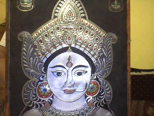 Vaishnav Devi Painting by Rameshwar Dhomne