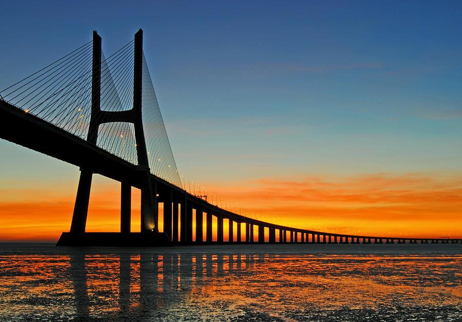 Vasco Da Gama Bridge Photograph by Sandro Porto