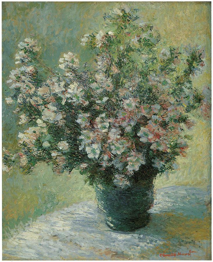 Claude Monet Painting - Vase Of Flowers  by Claude Monet