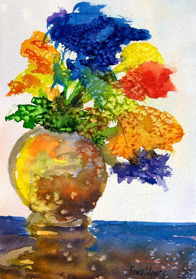 Vase with Flowers by Frank SantAgata
