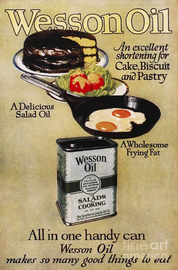 1918 Photograph - Vegetable Oil Ad, 1918 by Granger