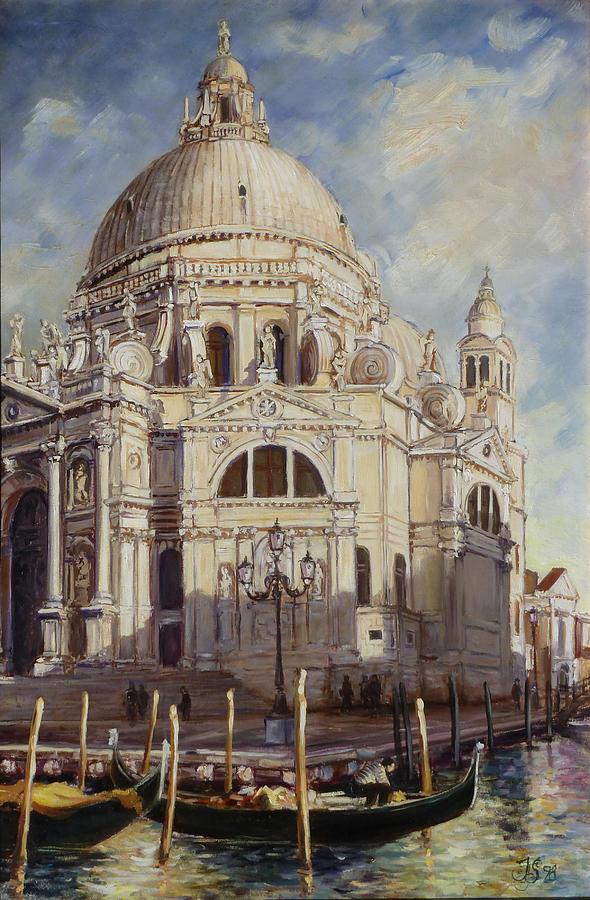 Venice Santa Maria Della Salute Painting By Irek Szelag