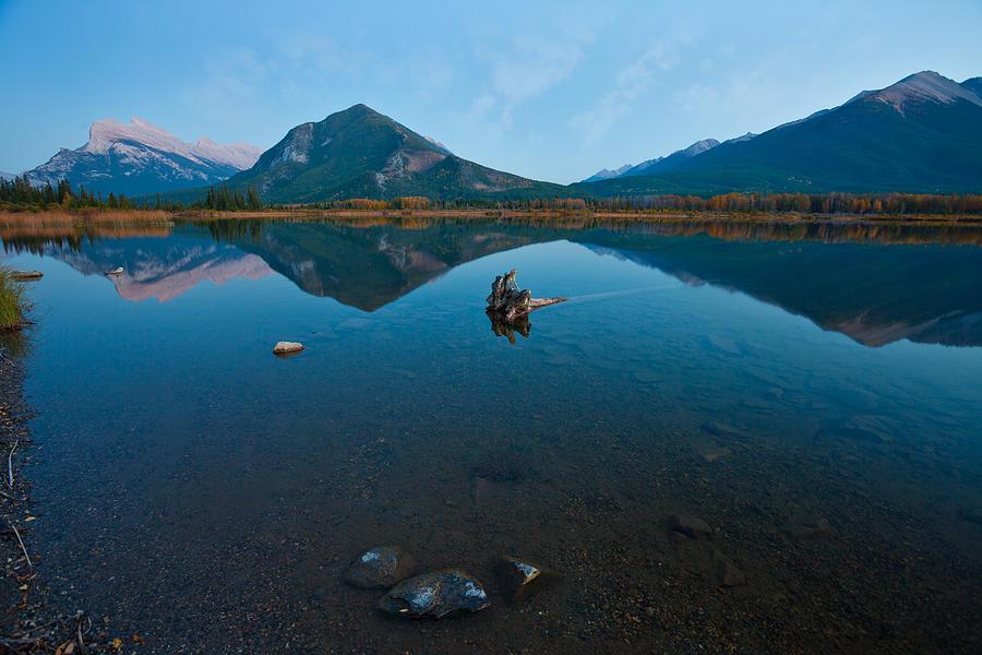 Vermilion Lake Photograph - Vermilion Lake Reflections by Manju Shekhar