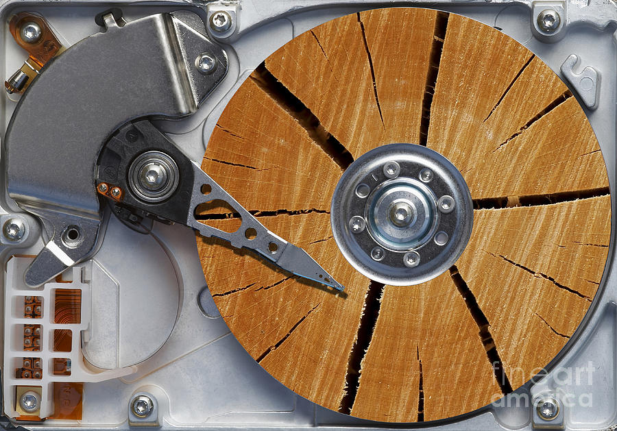Humor Photograph - Very Old Hard Disc by Michal Boubin