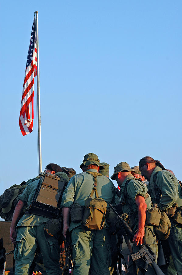 Veterans Photograph - Veterans Remember by Carolyn Marshall