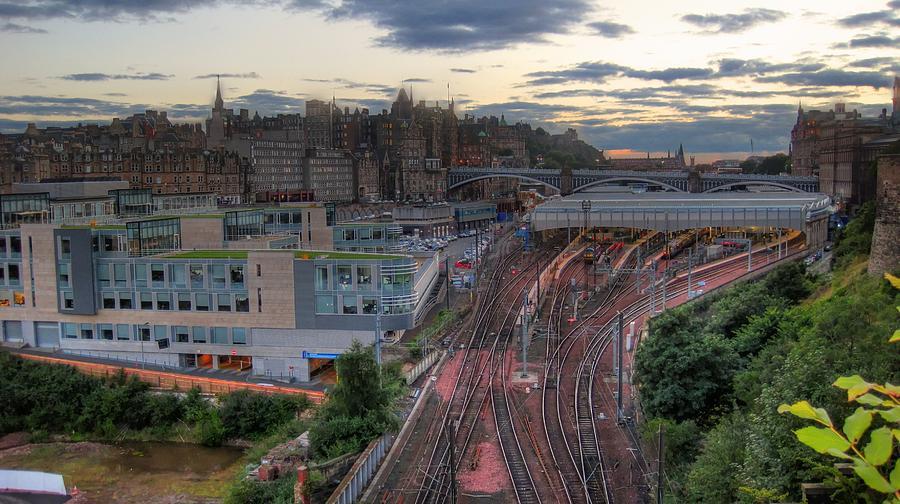 Landscape Pyrography - View Of Scotland by Jose Luis Cezon Garcia
