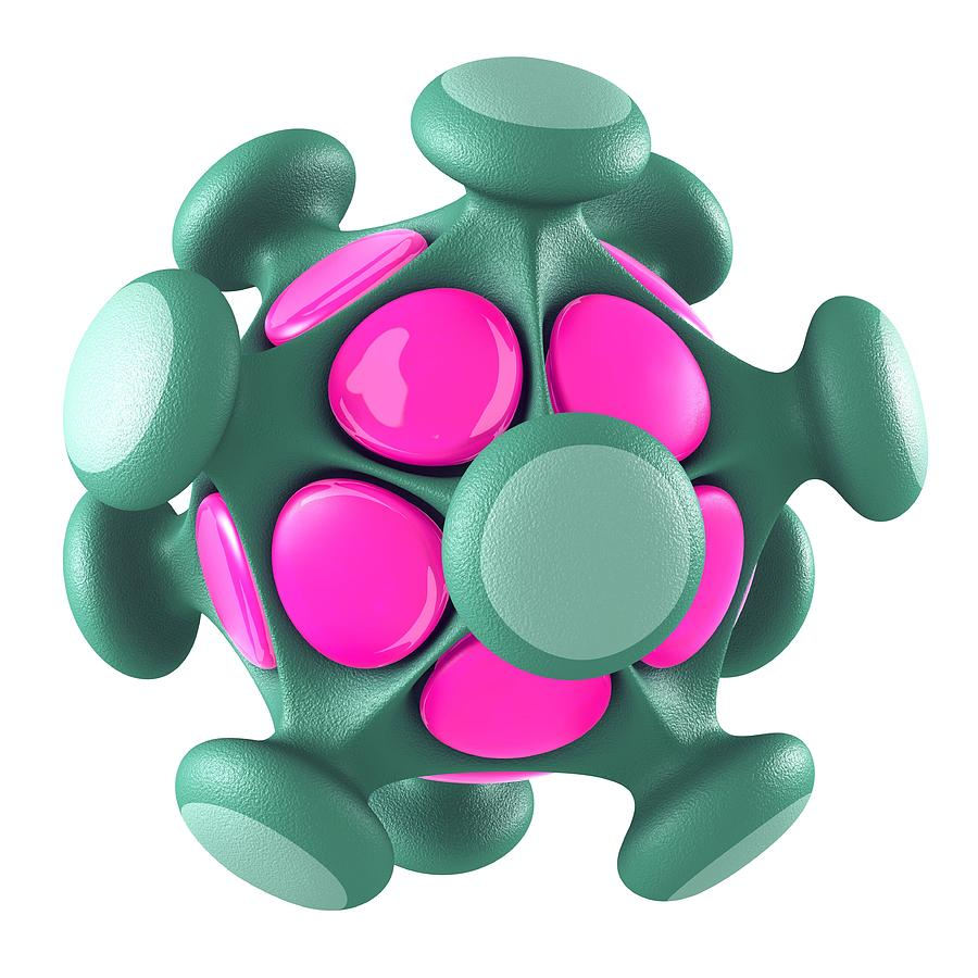 Pathogen Photograph - Virus Particle, Conceptual Image by Laguna Design