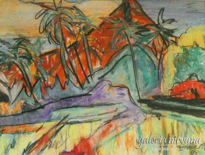 Vocosta Rica Painting - Volcan Rojo 98 by Bradley Bishko