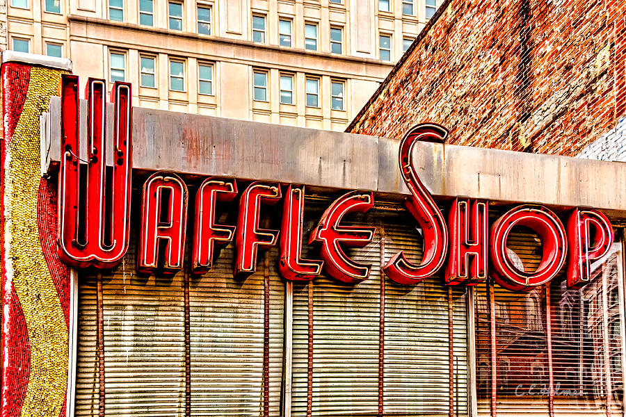 Shop Photograph - Waffle Shop by Christopher Holmes