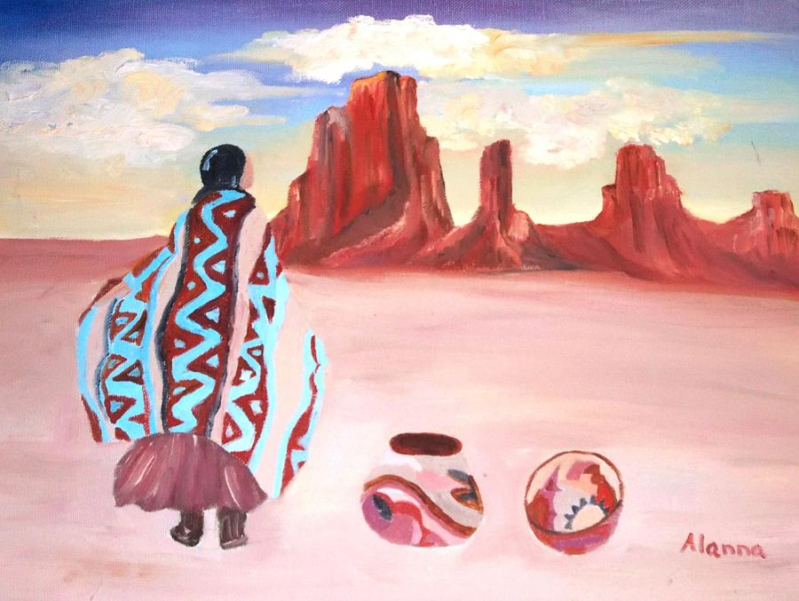 Native American Painting - Waiting For Friends by Alanna Hug-McAnnally