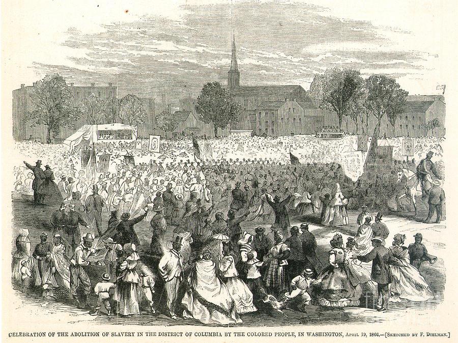 1866 Photograph - Washington: Abolition, 1866 by Granger