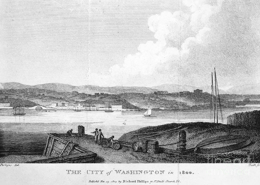 1800 Photograph - Washington, D.c., 1800 by Granger