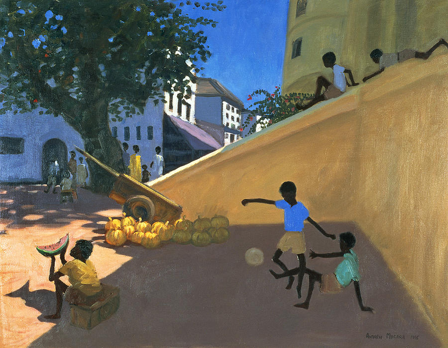 Children Painting - Water Melons by Andrew Macara