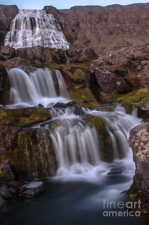 Iceland Photograph - Waterfall by Jorgen Norgaard