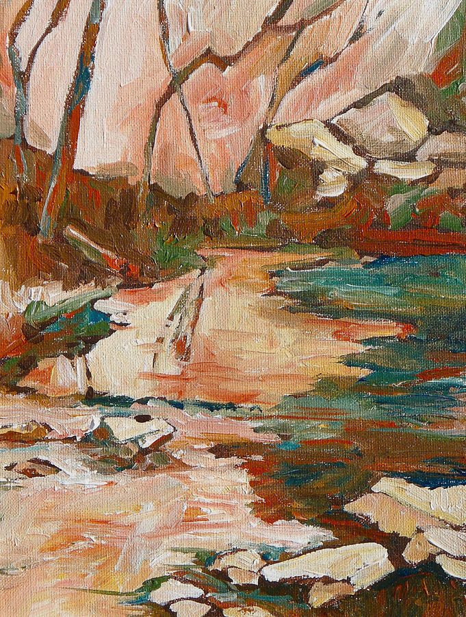 Sedona Painting - West Fork by Sandy Tracey