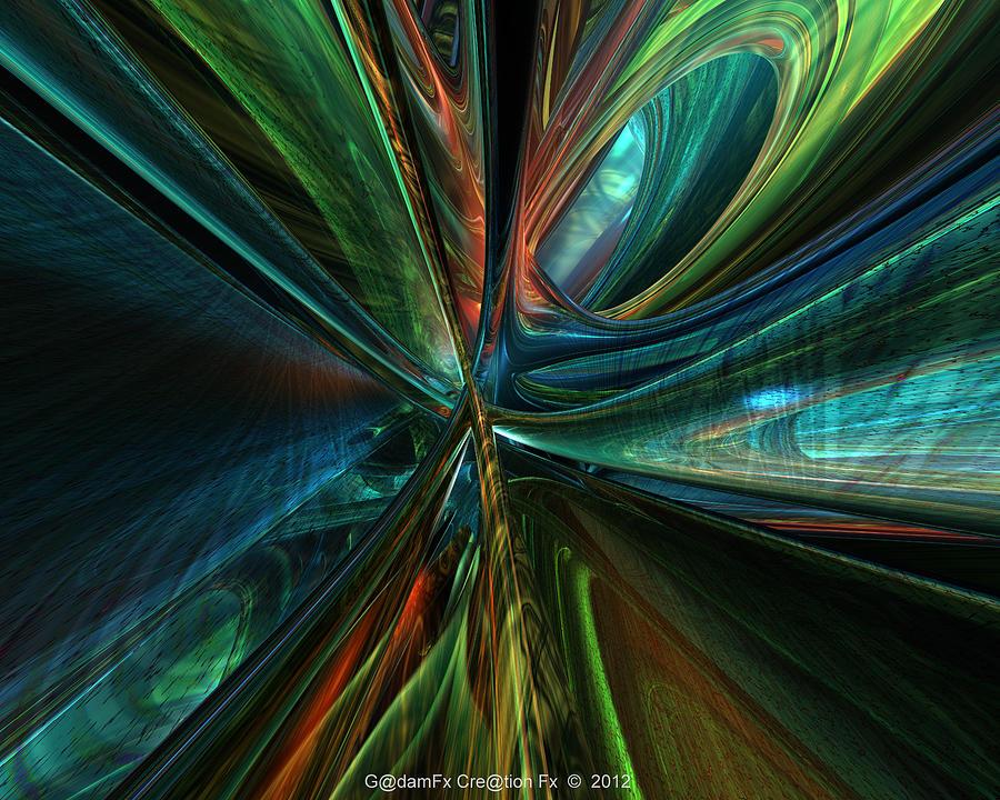 Abstract Digital Art - Where Art Meets Tech  by G Adam Orosco