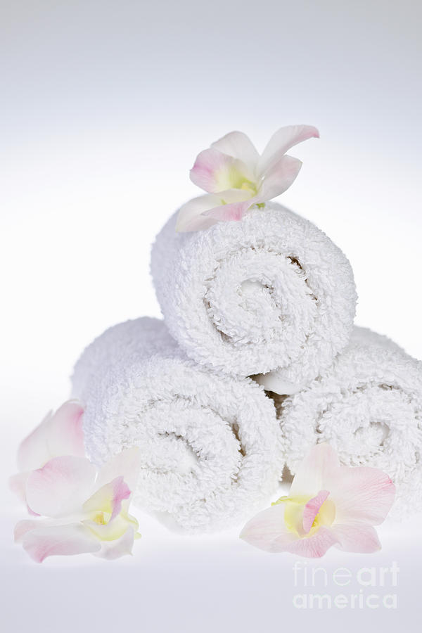 Towels Photograph - White Spa by Elena Elisseeva