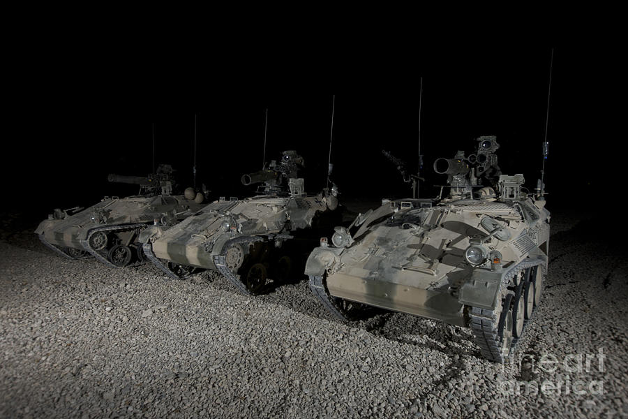 Operation Enduring Freedom Photograph - Wiesel 1 Atm Tow Anti-tank Vehicles by Terry Moore