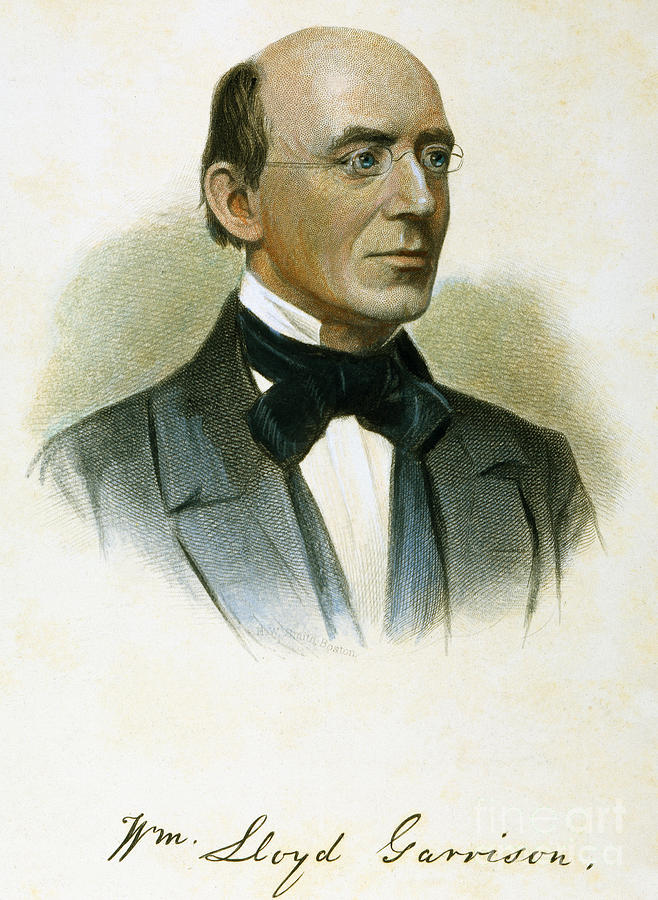 19th Century Photograph - William Lloyd Garrison by Granger