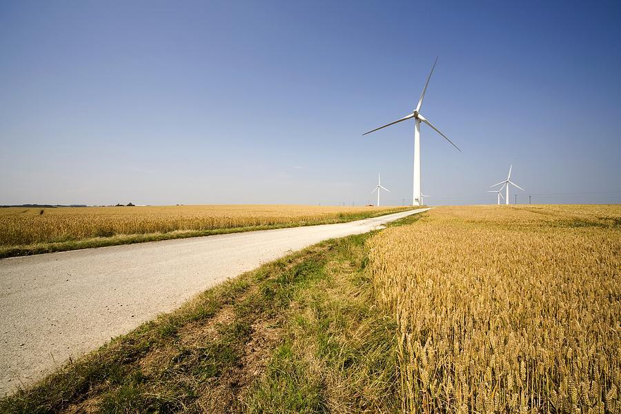 Built Structure Photograph - Wind Turbine, Humberside, England by John Short
