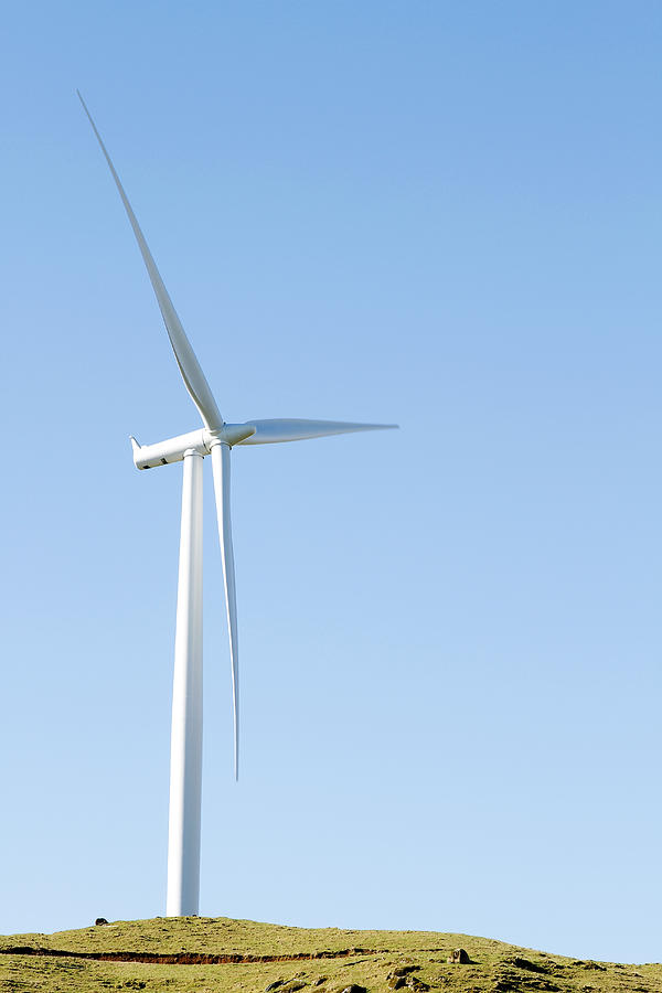 Vertical Photograph - Wind Turbine  by Les Cunliffe