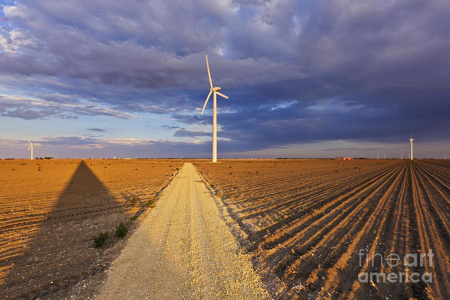 Alternative Energy Photograph - Wind Turbine Shadow by Jeremy Woodhouse