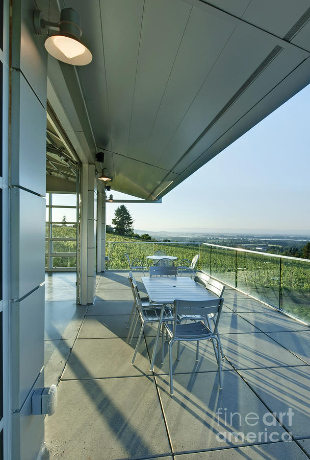 Architecture Photograph - Wine Tasting Balcony by Rob Tilley