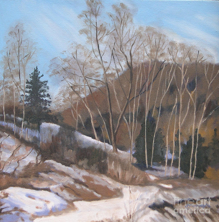 Winter Landscapes Painting - Winter At The Brickworks by Joan McGivney
