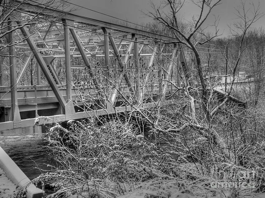 George Washington Photograph - Winter Bridge by David Bearden