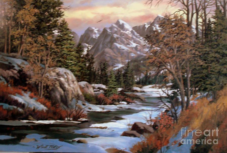 Winters Palette Painting by W  Scott Fenton