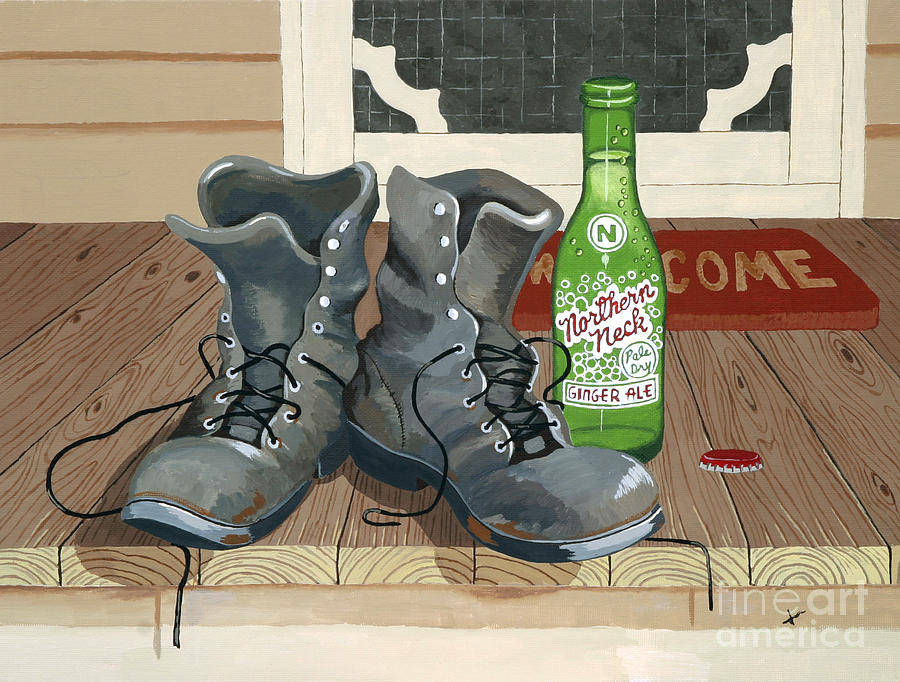 Workdays Over Painting by Jennifer  Donald