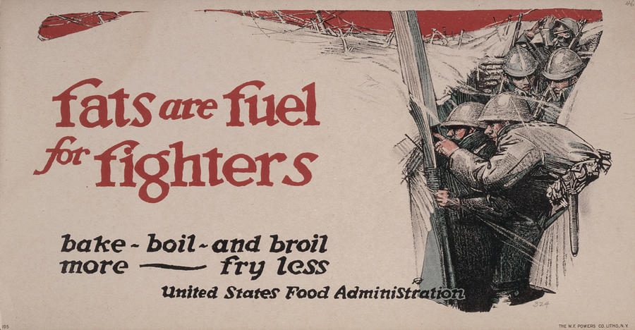 1910s Photograph - World War I, Poster Showing Soldiers by Everett