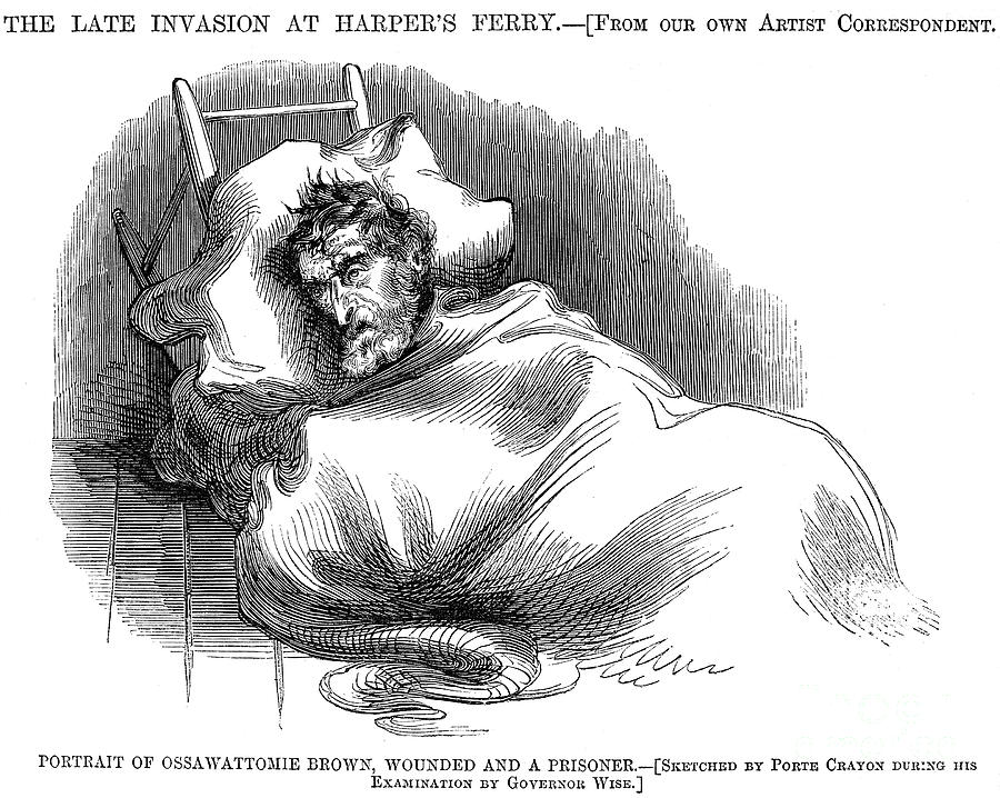 1859 Photograph - Wounded John Brown, 1859 by Granger