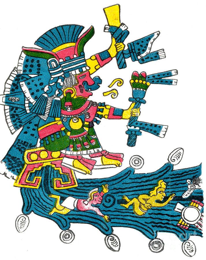 History Photograph - Xochiquetzal, Aztec Goddess Of Beauty & by Photo Researchers