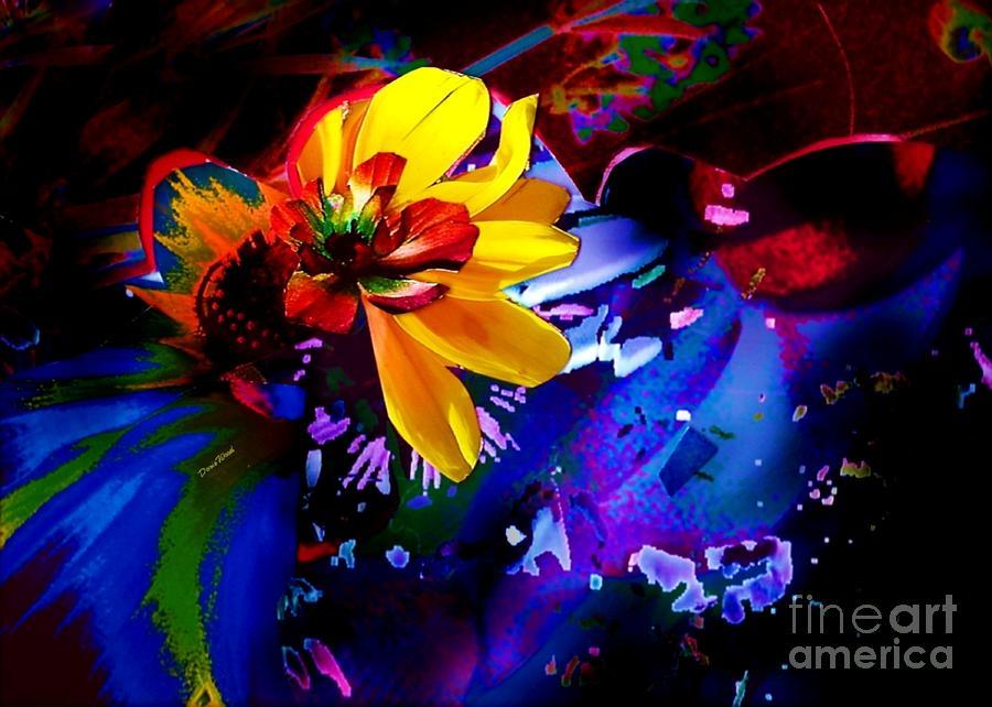 Flower Digital Art - Yellow Flower by Doris Wood