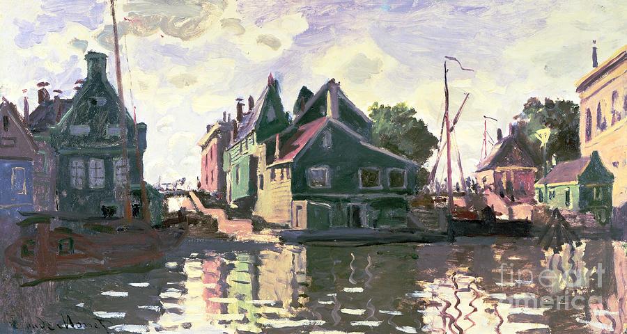 Reflecting Painting - Zaandam by Claude Monet