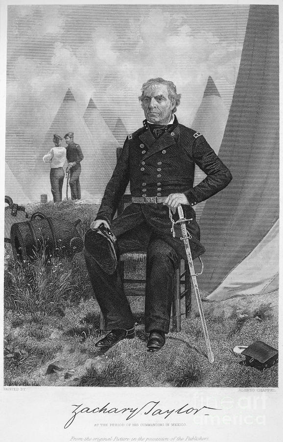 1863 Photograph - Zachary Taylor (1784-1850) by Granger