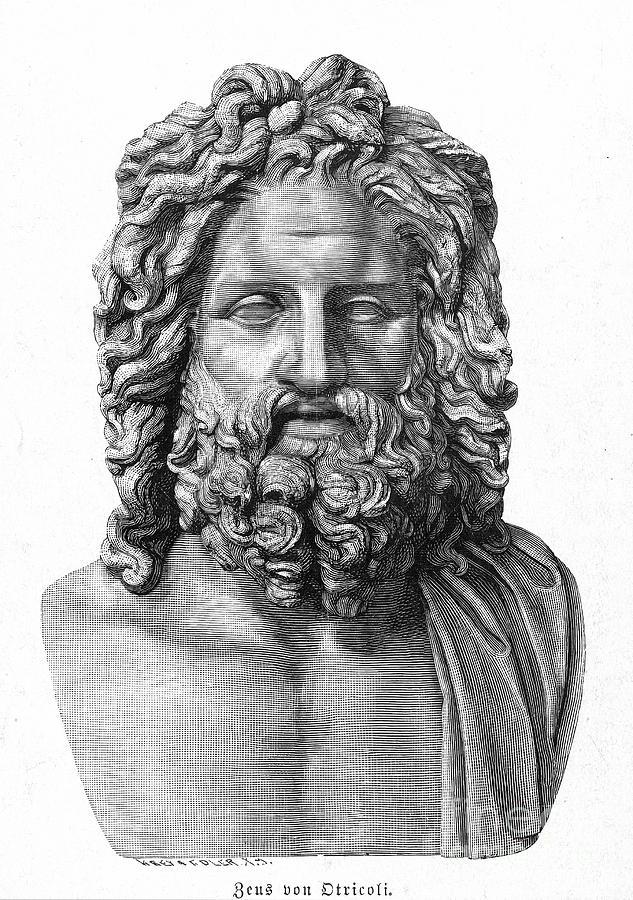 Ancient Photograph - Zeus by Granger
