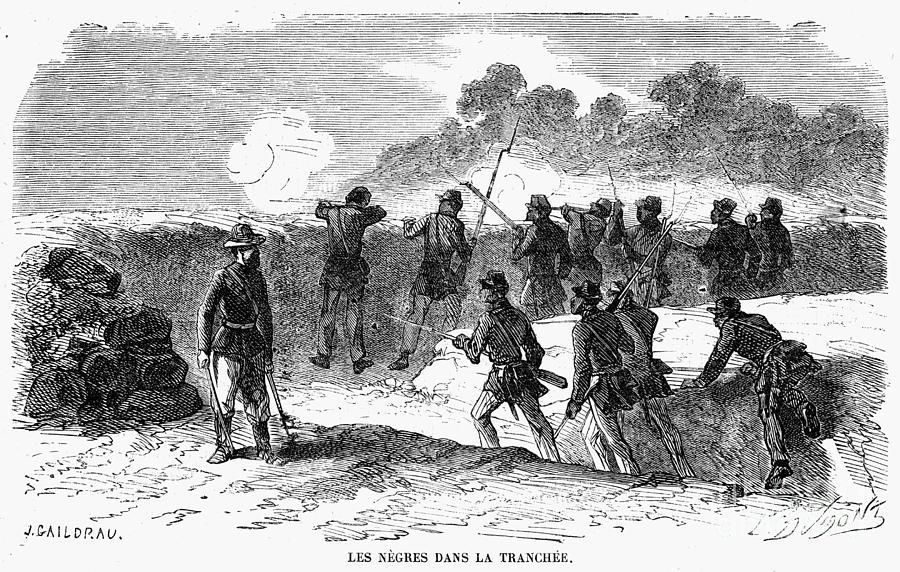 1864 Photograph - Civil War: Black Troops by Granger