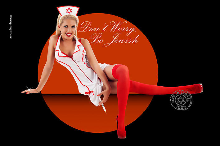 Sexy Nurse Photograph - Dont Worry Be Jewish by Pin Up TLV
