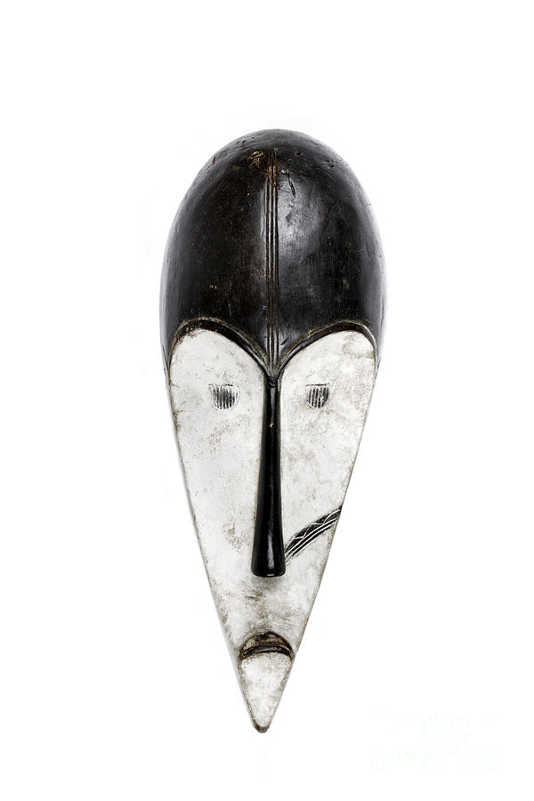 Masks Photograph - Fang Mask From Gabon Cameroon And Equatorial Guinea by Paul Greenway
