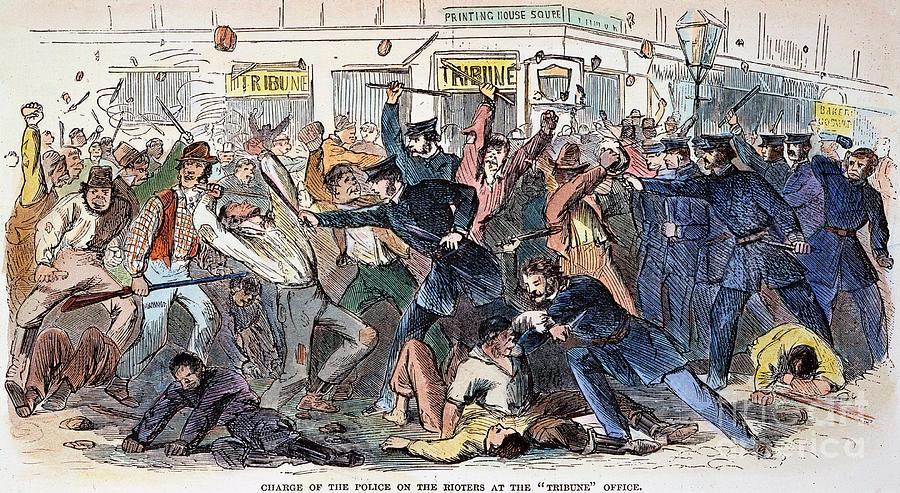 1863 Photograph - New York: Draft Riots by Granger