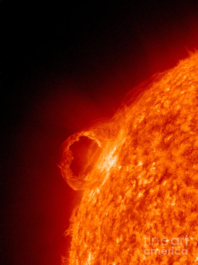 Gas Photograph - Solar Prominence by Science Source