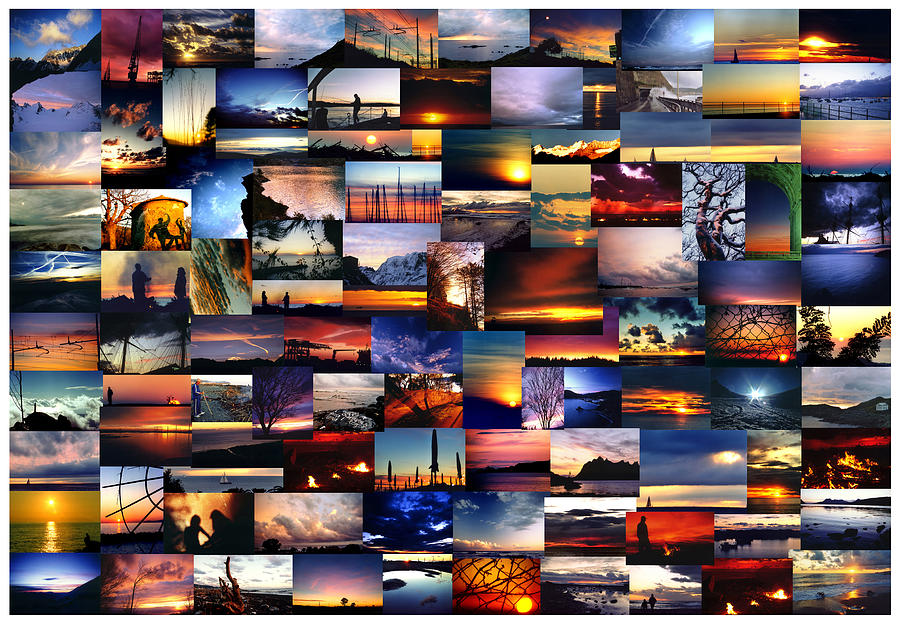 Sunset Photograph - 100 Sunsets And Sunrises by Andrea Gabrieli