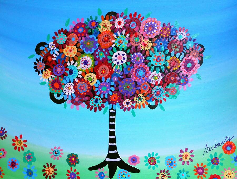 Ar Painting - Tree Of Life by Pristine Cartera Turkus